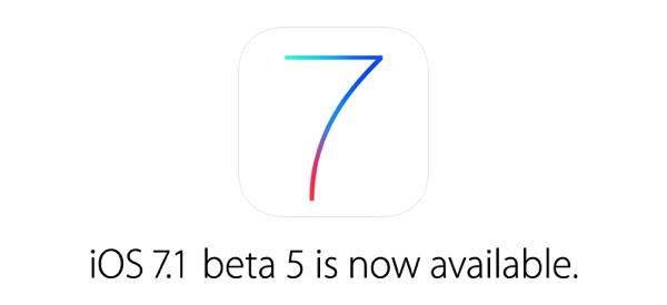 iOS 7.1 beta 5が配布開始